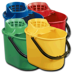 plastic colour mop bucket