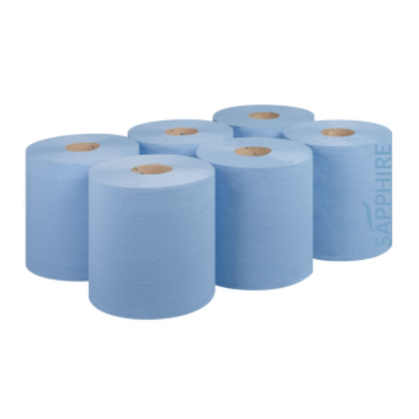 Pallet of Blue Embossed Centrefeed Roll