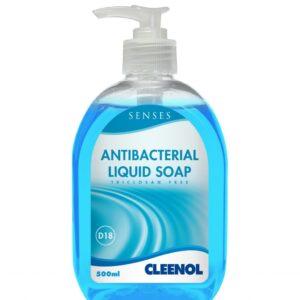 Pallet of Senses Antibacterial Liquid Soap 150 cases per pallet, 6 x 500ml per case